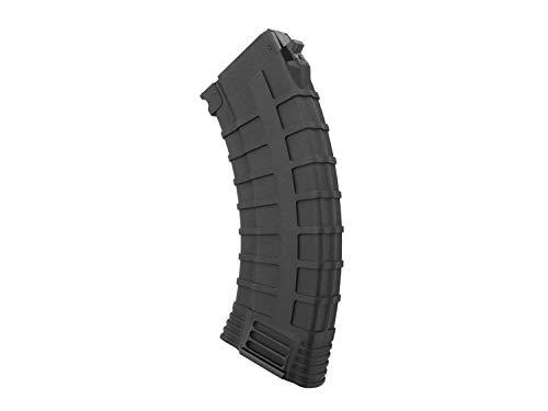 BEGADI Airsoft/Softair AK 47 Reinforced Polymer Midcap Magazin (130 BBS) -schwarz-