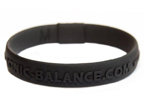 (Black, Medium - 19cm / 7.5in) - Ionic Balance Core Band Black, Medium - 19cm / 7.5in
