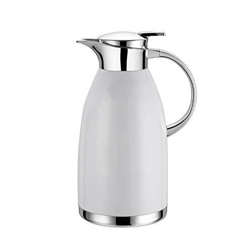 QAQ Hervidor De Agua De Acero Inoxidable 304 De Doble Capa De Aislamiento Al Vacio Cafetera Fabricante,White,1.8L