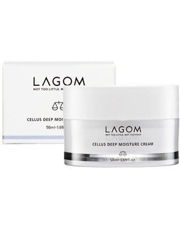 Lagom Cellus Crème Hydratant et Profonde - 50 ml - Contient DermafluxTM, extrait de plante résurrection callus, de l'huile de graines de jojoba.