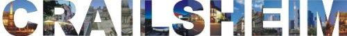 INDIGOS UG - Wandtattoo Wandsticker Wandaufkleber - Aufkleber farbige Wandschrift Städtename Städtename Crailsheim mit Sehenswürdigkeiten 96 x 10 cm Länge