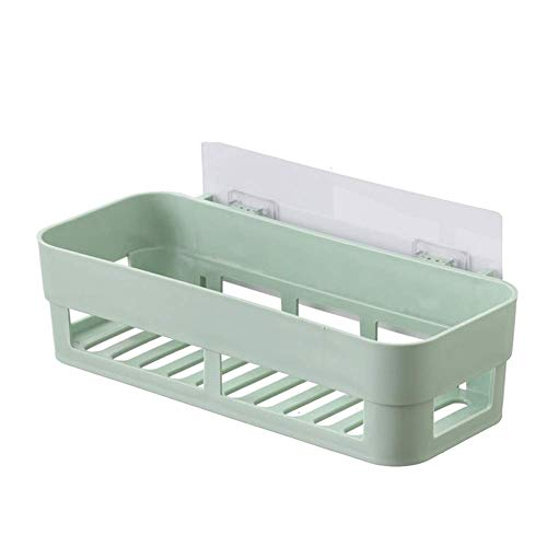 sxtylqq Plastic Badkamer Kabinet Caddy Neem Een Douche Opslag Plank Wandmand Badbenodigdheden Shampoo Rack -712 (Kleur : Groen)