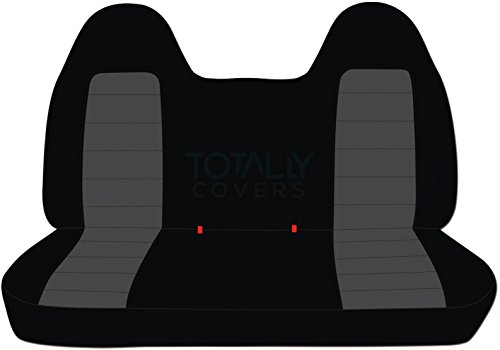 Totally Covers Compatible with 1999-2004 Ford F-150 Two-Tone Truck Seat Covers (Front Solid Bench) with Molded Headrests: Black & Charcoal (21 Colors) F-Series F150