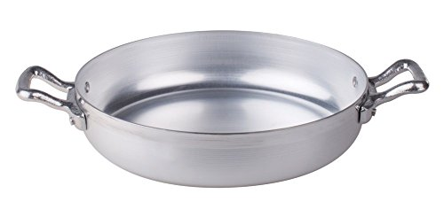Pentole Bratpfanne, BLTF-Aluminium, 2 Griffe aus Edelstahl, silberfarben 30 cm Silber/schwarz