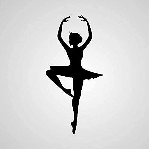 Adhesivo De Pared Creativo Mural Tatuajes De Pared Calcomanías De Ballet Bailarina Pegatinas De Pared Murales Artísticos Dormitorio De Niños Decoración Del Hogar Decoración De La Habitación 117X57Cm