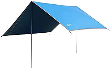 Yodo Lightweight Hammock Sun Shelter Shade Tent Tarp Awning Canopy with Poles and Stakes for Outdoor Camping Hiking Backpacking Picnic Fishing