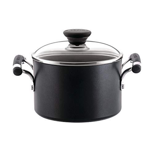Circulon Acclaim Hard-Anodized Nonstick 3-Quart Covered Saucepot, Black