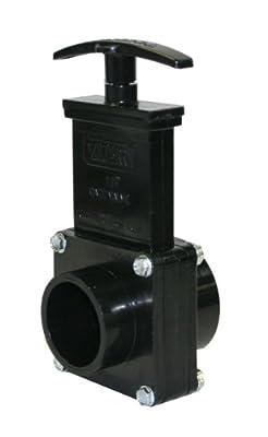"Valterra 7102 ABS Gate Valve, Black, 1-1/2"" Slip x Spig from Valterra Products"