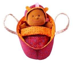 Lilliputiens 86243 - Baby Lea Stoffpüppchen in keinem Tragetäschchen