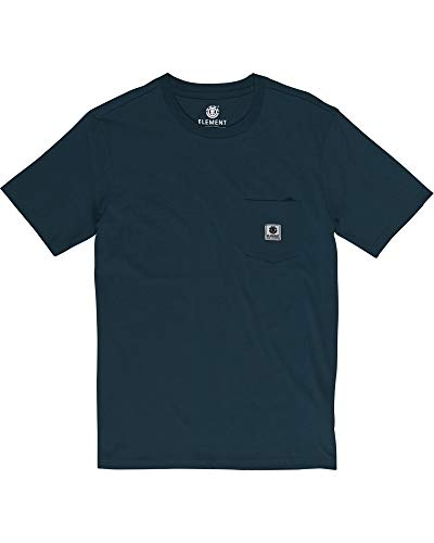 Element Basic Pocket Label Camiseta de Manga Corta para Hombre, Eclipse Navy, S