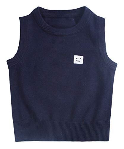 EOZY Baby Ärmelloser Pullover Strickweste Oberbekleidung Kleinkind Jungen Mädchen Sweatshirt Blau 120