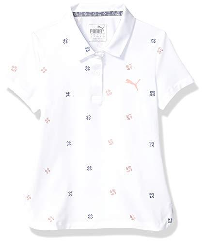 Puma Golf 2019 Girl's Ditsy Polo, BRIGHT WHITE, Medium
