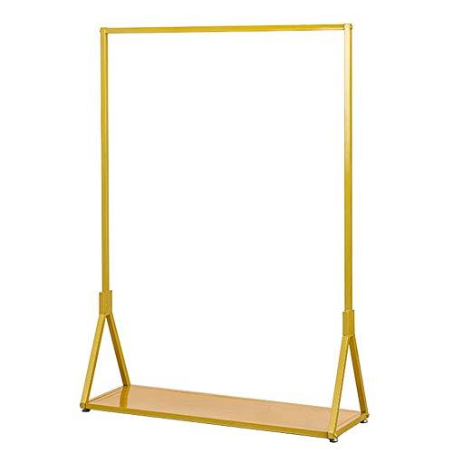 AFCITY - Perchero para ropa Heavy Duty de metal dorado, ropa con visualización de detalles, con organizador de ropa (color: dorado, tamaño: 120 x 40 x 150 cm)