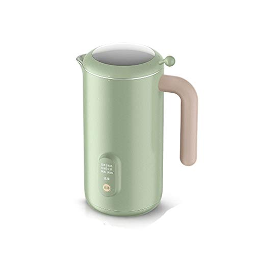 BMMMZ Soymilk Hersteller-Maschine Saftmaschine Blender Automatische Beheizbare Soja-Milch Reispaste Maker Free-Filter (Color : Green)