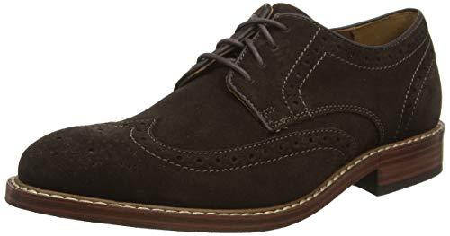 Rockport Kenton Wingtip, Zapatos de Cordones Brogue Hombre, Chocolate Amargo marrón SDE 003, 43 EU