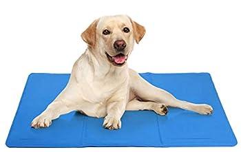 DZL Couverture rafraîchissante pour chien ou chat 50 x 90 cm Bleu 5 tailles