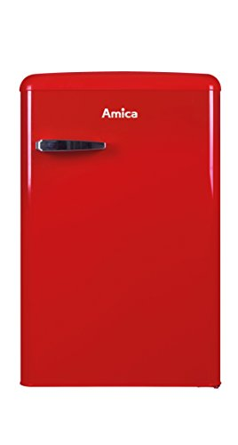 Amica Retro Nostalgie Vollraumkühlschrank Rot A++ 121 L Vollraum VKS 15620R