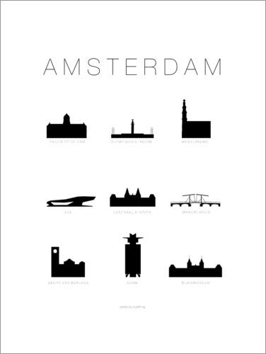 Acrylglasbild 60 x 80 cm: Amsterdam von Schumff - Wandbild, Acryl Glasbild, Druck auf Acryl Glas Bild
