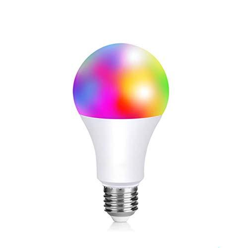 YING Bombilla LED Inteligente WiFi, E27 WiFi Bombilla Luces Cálidas/Frías & RGB Funciona con Alexa (Echo, Echo Dot) Google Home, 16 Millones De Colores, Equivalente 90 W