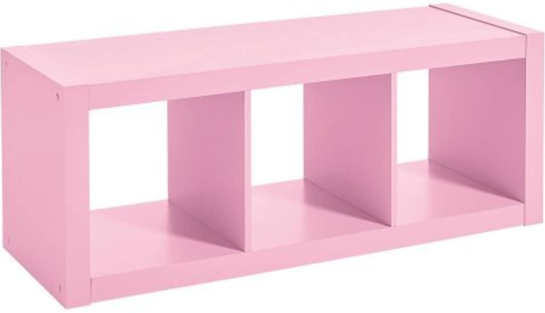 Versatile Better Homes and Gardens 3-Cube Organizer (Pink)