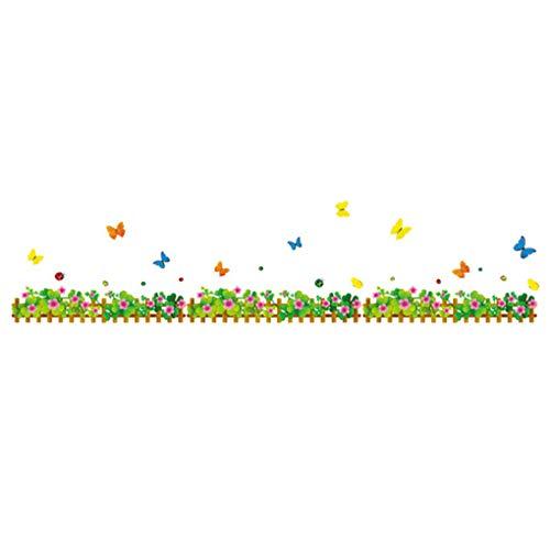 Clover Flower Butterfly Stickers muraux fond d'écran Home Decor bébé garçons filles enfants Chambre Décoration