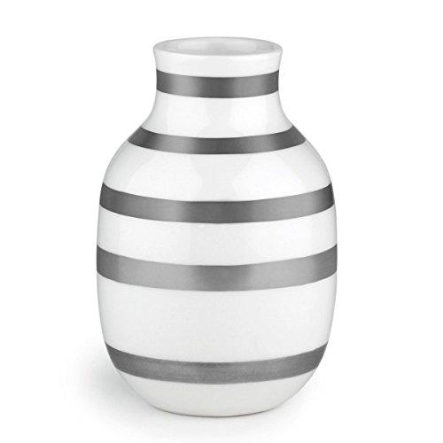 Kahler ケーラーOmaggio Vase オマジオ フラワーベース(S) シルバー 15211 H:12.5cm