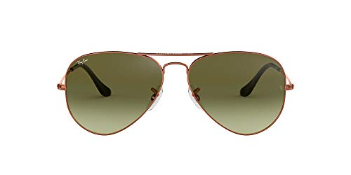 Ray-Ban Aviator Large Metal, Gafas de sol para Hombre, Marrón (Green Gradient), 58