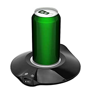 Calentador de Bebidas USB, Placa calefactora de Posavasos eléctrica de Doble propósito para Taza de café de 5-8 W, para Uso en el hogar/Escritorio de Oficina(Negro)