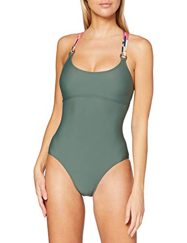 ESPRIT Bodywear Damen TENYA Beach Swimsuit Badeanzug, 360/OLIVE, 38