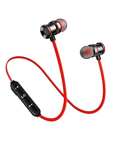 GO SHOPS M001 Wireless Bluetooth Earphone Headphone for Calling & Music with mic & 2 Year Warranty for All Android & Smartphones Devices