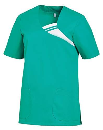 clinicfashion 12612062-1 Schlupfhemd Schlupfkasack Schlupfjacke Kasack Damen Mischgewebe smaragd Größe XXL