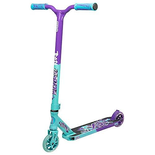 Infinity Scooters Patinete Freestyle para Adultos y Niños a Partir de 8 años- Patinete de Trucos y Saltos con Rodamientos ABEC-9 Ruedas 110mm de PU con Barra 360 Grados (Revel Turquesa)