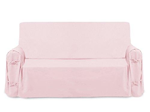 Soleil d'ocre Funda de sofá de algodón PANAMA rosa