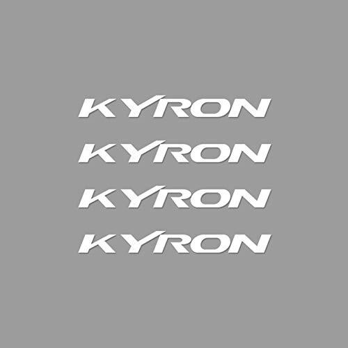 SLONGK 4PCS Auto reflektierende Fensterwischer Aufkleber, für SsangYong Actyon Korando Kyron Musso Rexton Tivoli Auto Dekor Aufkleber Zubehör