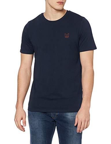 Jack & Jones Jjedenim Logo tee SS O-Neck Noos Camiseta, Blazer Azul Marino, M para Hombre