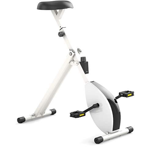 Deskbike - Termómetro para bicicleta grande - Con sensor de frecuencia de pedaleo y sensor de velocidad - Tamaño del cuerpo 185-215 cm - Altura mínima del escritorio 115 cm (marco blanco y blanco)
