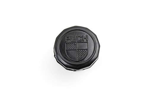 Schwarzer Tankdeckel für Mofa mit Wappen-Prägung