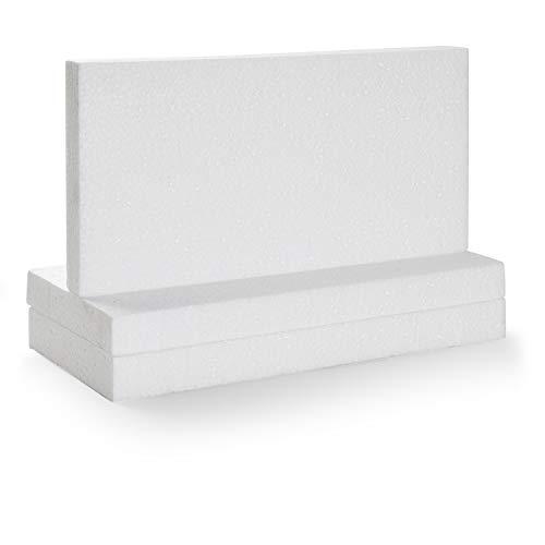 Bloques rectangulares de Espuma para artes y manualidades (Paquete de 6, de 30,5 cm x 15,2cm x 2,5 cm )