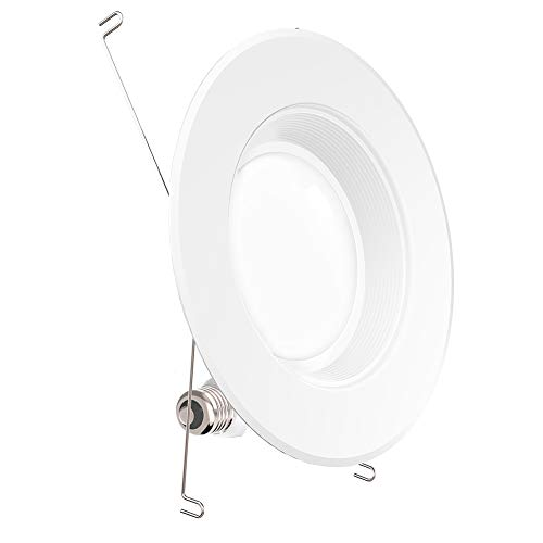 Sunco Lighting 5/6 Inch LED Recessed Downlight, Baffle Trim, Dimmable, 13W=75W, 2700K Soft White, 1050 LM, Damp Rated, Simple Retrofit Installation - UL + Energy Star
