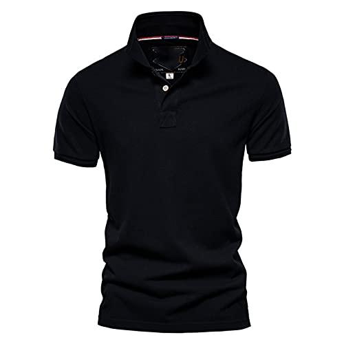SSBZYES Camiseta para Hombre Polo para Hombre Manga Corta Verano para Hombre Solapa Superior Casual Polo para Hombre Camiseta de algodón de Manga Corta