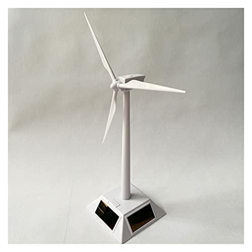 Turbina de viento al aire libre Mini conducción solar modelo de turbina eólica Mini juguete solar Mini Generador de turbinas de viento Modelo Molino de viento con energía solar para energía eólica