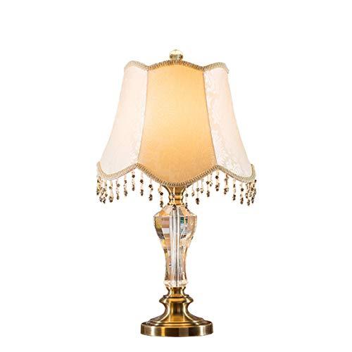 HZS Lámpara Decorativa del Estilo Europeo Lámpara de Cristal Lámpara de cabecera del Dormitorio Lámpara de la Sala de Estar Pastoral Creativa Moderna Americana