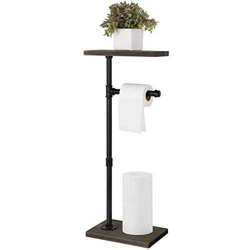 Top 10 best selling list for diy wood and pipe toilet paper holder with shelf