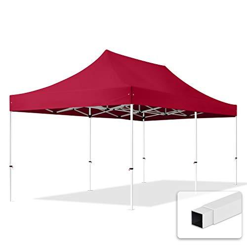 TOOLPORT Tente Pliante 3x6 m sans Bâches de Côté Economy PE 300 g/m² Housse Barnum Chapiteau Pliant Tonnelle Rouge