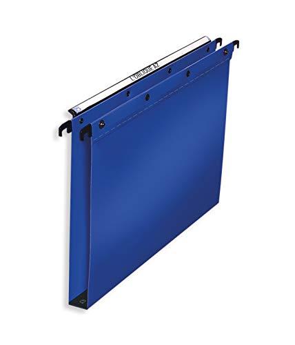 ELBA 100330377 Hängemappe Polypro Ultimate 10er Pack für A4 aus Kunststoff seitlich offen blau Schrank ideal für die lose Blatt-Ablage im Büro und der Behörde
