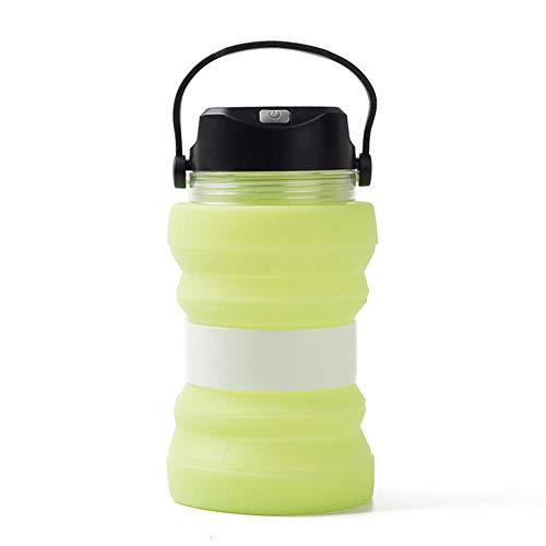 kapokilly Bollitore Solare Multifunzionale, Bollitore Solare 730ML Bollitore Luminoso Creativo Tazza Luminosa Tazza da tè Bollitore Pieghevole, Blu/Verde