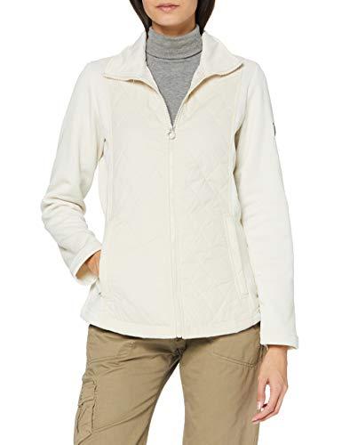 Regatta Zuzela Padded Body Panels Insulated Lined Full Zip Fleece Sweater, Light Vanilla, 46 Womens