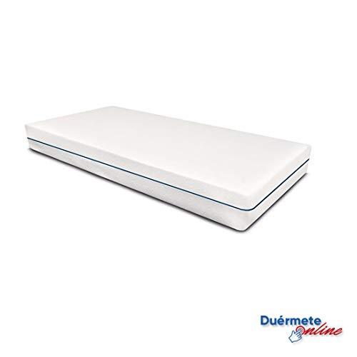 31eRHupAkFL - Duérmete On-line Cama Eléctrica Articulada Reforzada 5 Planos Ergoluxe + Colchón Viscoelástico Dorsal Visco, Gris, 90x190