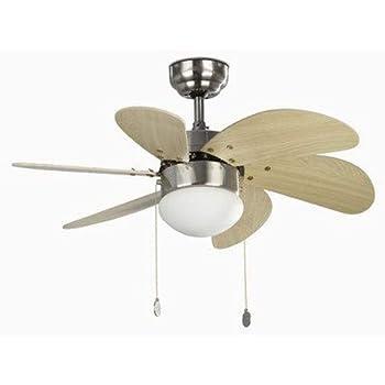 Orbegozo CP 15075 N - Ventilador de techo con luz, 6 aspas de ...