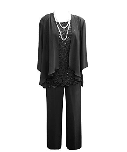 Vincent Bridal Women's Elegant 3 Pieces Mother of The Bride Dresses Pants Suits with Jacket for Wedding Groom